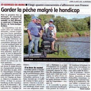 32 PECHE SAINT GEORGES DE MONS PECHE ET HANDICAP 01 09 2015