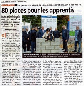 39 SAINT GEORGES DE MONS MAISON DE L'ALTERNANTE  02 10 2015